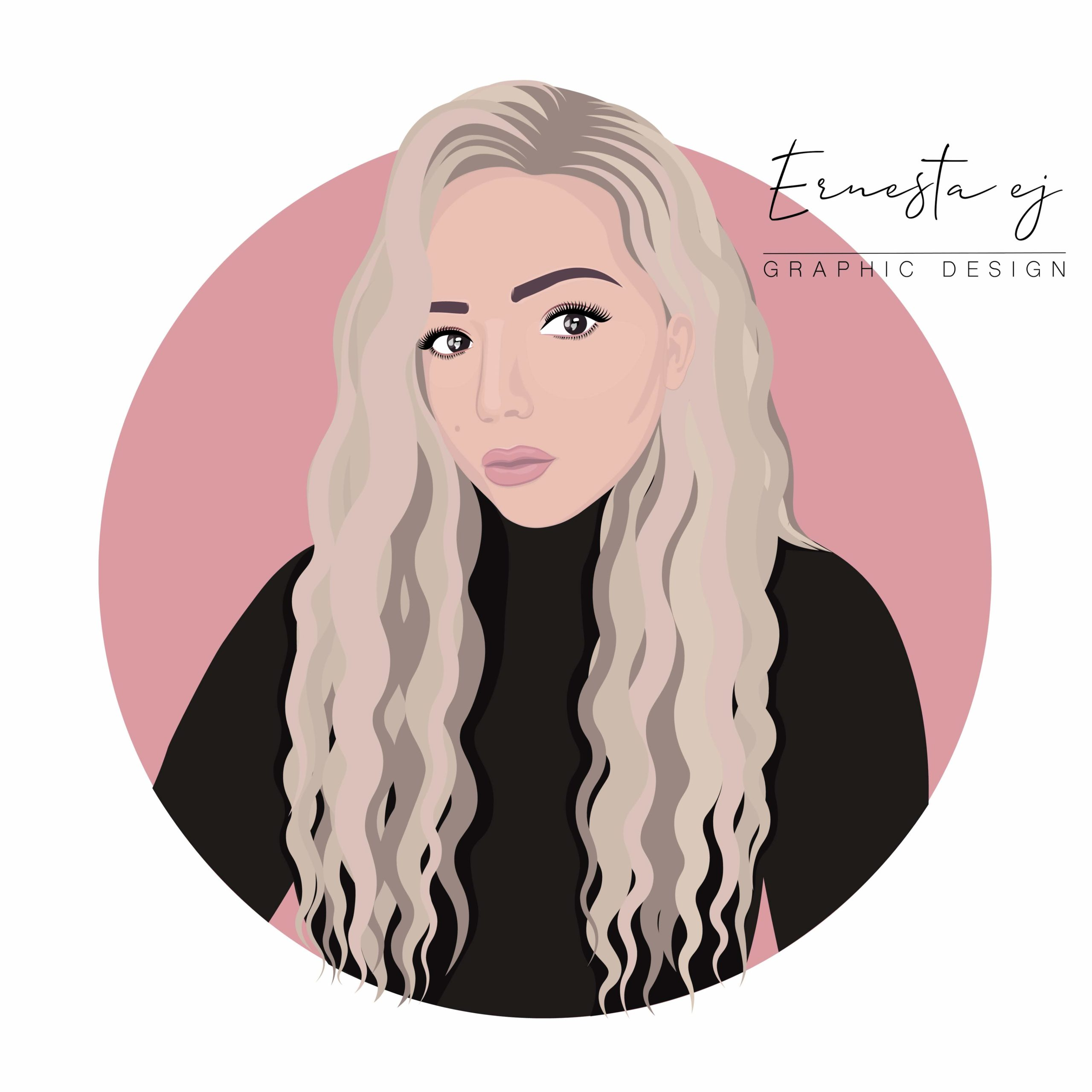 Vector portrait Pink